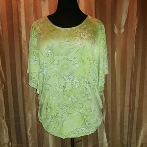 BNWT! Chartreuse Embellished Blouse